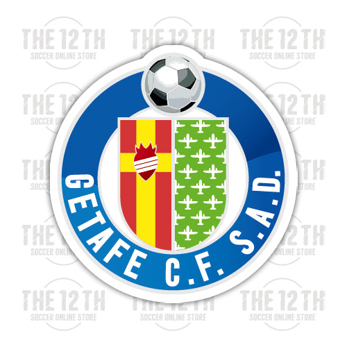Getafe CF Removable Vinyl Sticker Decal - 12 Soccer Tee