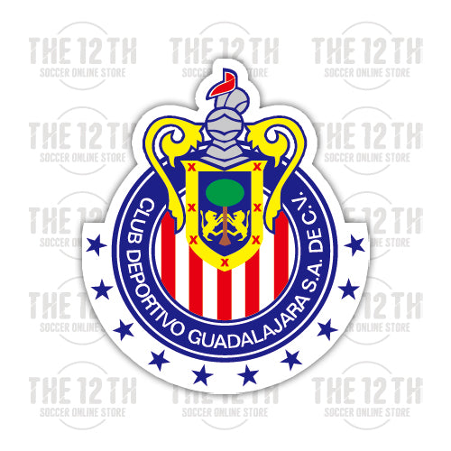 C.D. Guadalajara Removable Vinyl Sticker Decal - 12 Soccer Tee
