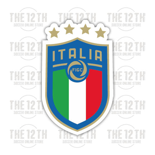 Italy Removable Vinyl Sticker Decal - 12 Soccer Tee