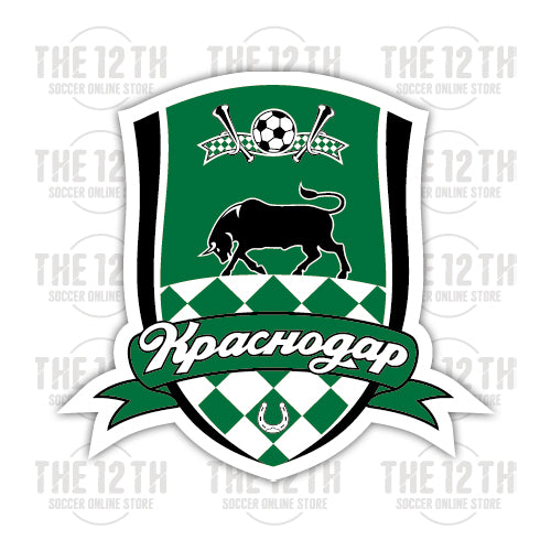 FC Krasnodar Removable Vinyl Sticker Decal - 12 Soccer Tee