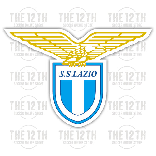S.S. Lazio Removable Vinyl Sticker Decal - 12 Soccer Tee