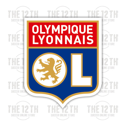 Olympique Lyonnais Removable Vinyl Sticker Decal - 12 Soccer Tee