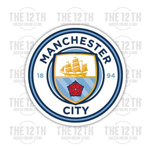 Manchester City Removable Vinyl Sticker Decal - 12 Soccer Tee