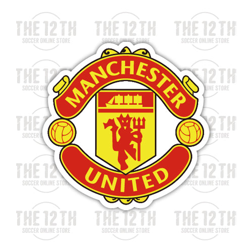 Manchester United Removable Vinyl Sticker Decal - 12 Soccer Tee