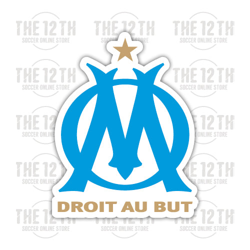 Olympique de Marseille Removable Vinyl Sticker Decal - 12 Soccer Tee