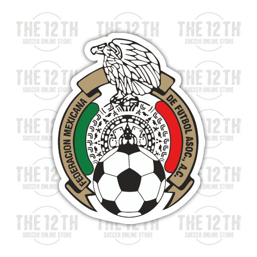 Mexico Removable Vinyl Sticker Decal - 12 Soccer Tee
