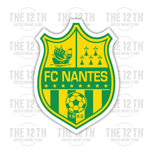 FC Nantes Removable Vinyl Sticker Decal - 12 Soccer Tee