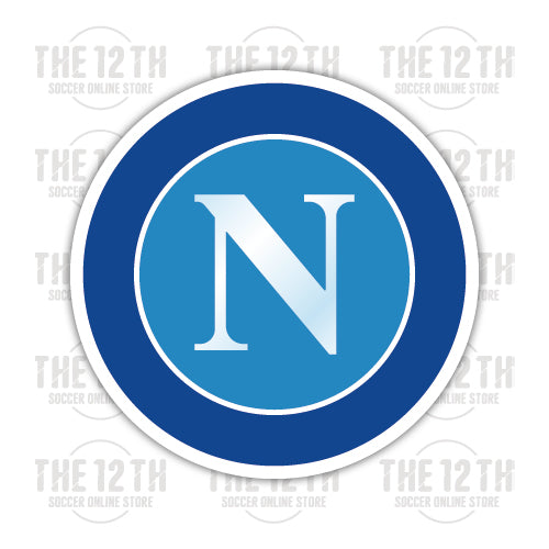 S.S.C. Napoli Removable Vinyl Sticker Decal - 12 Soccer Tee
