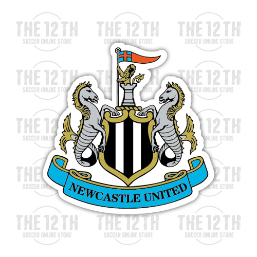 Newcastle United Removable Vinyl Sticker Decal - 12 Soccer Tee