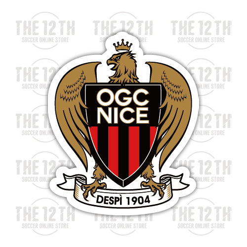 OGC Nice Removable Vinyl Sticker Decal - 12 Soccer Tee