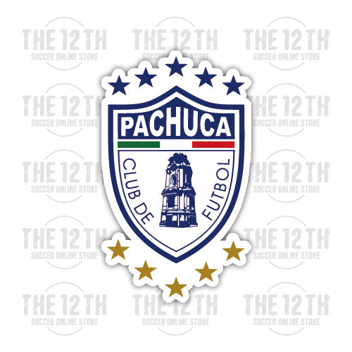 C.F. Pachuca Removable Vinyl Sticker Decal - 12 Soccer Tee