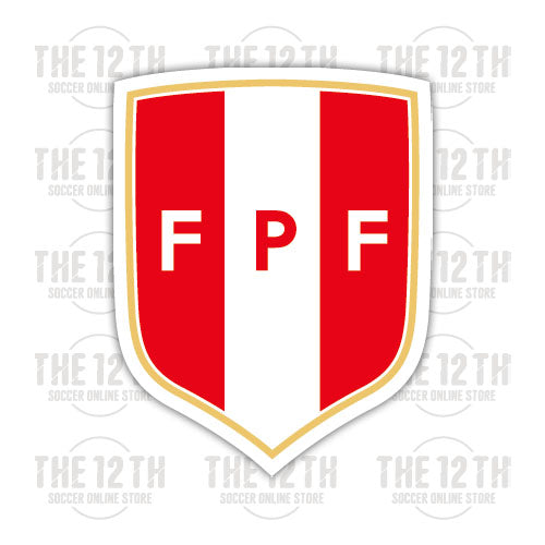 Peru Removable Vinyl Sticker Decal - 12 Soccer Tee