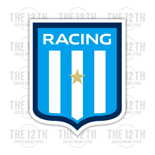 Racing Club de Avellaneda Removable Vinyl Sticker Decal - 12 Soccer Tee