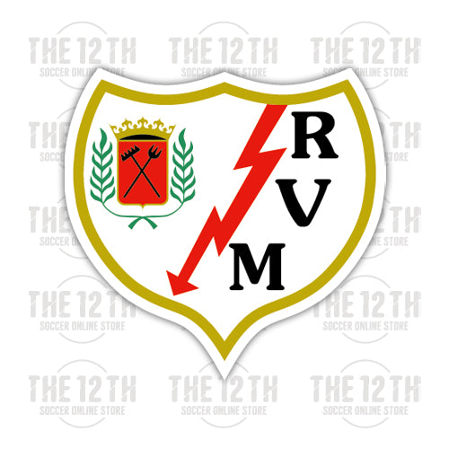 Rayo Vallecano Removable Vinyl Sticker Decal - 12 Soccer Tee