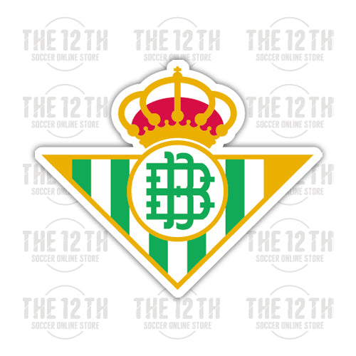 Real Betis Removable Vinyl Sticker Decal - 12 Soccer Tee