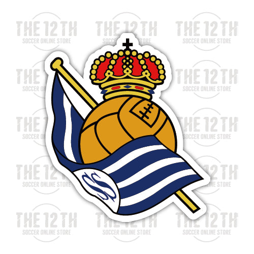 Real Sociedad Removable Vinyl Sticker Decal - 12 Soccer Tee