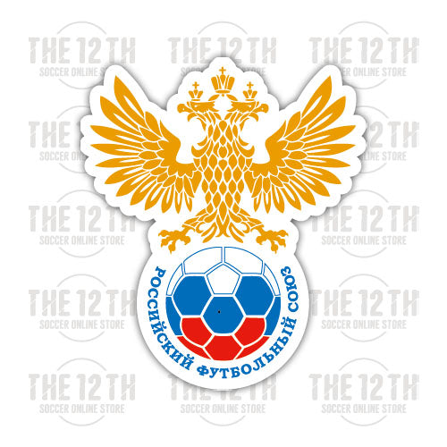 Russia Removable Vinyl Sticker Decal - 12 Soccer Tee