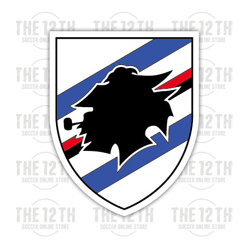 U.C. Sampdoria Removable Vinyl Sticker Decal - 12 Soccer Tee