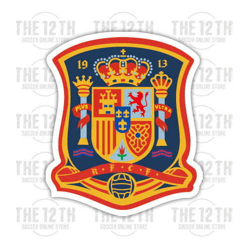 Spain Removable Vinyl Sticker Decal - 12 Soccer Tee