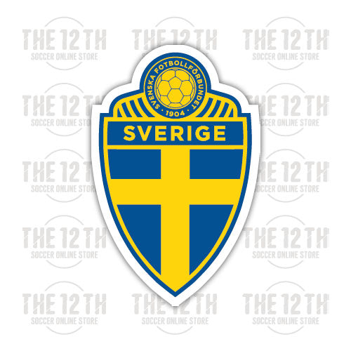 Sweden Removable Vinyl Sticker Decal - 12 Soccer Tee
