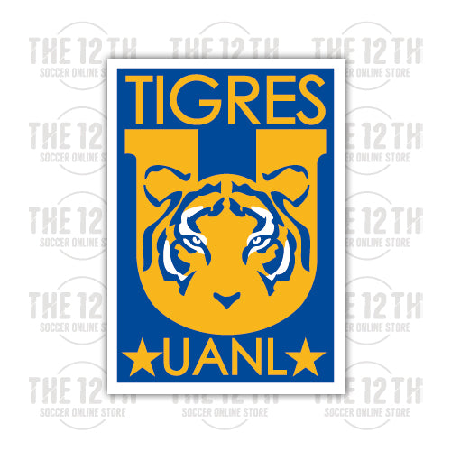 Tigres UANL Removable Vinyl Sticker Decal - 12 Soccer Tee