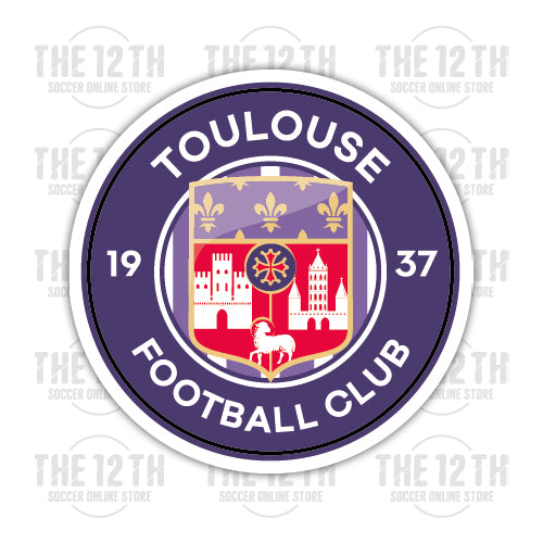 Toulouse FC Removable Vinyl Sticker Decal - 12 Soccer Tee