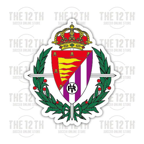 Real Valladolid Removable Vinyl Sticker Decal - 12 Soccer Tee