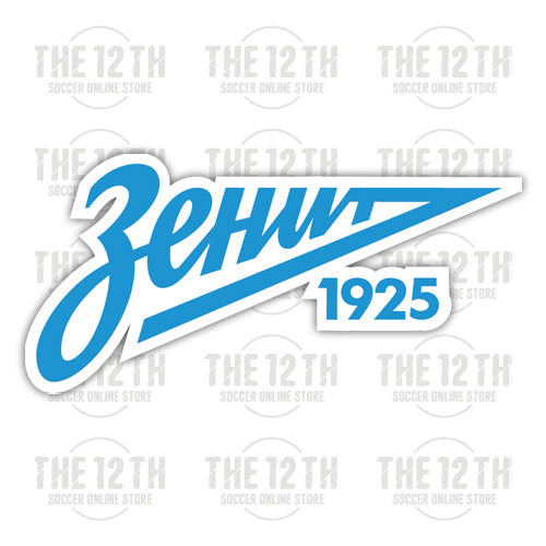 FC Zenit Saint Petersburg Removable Vinyl Sticker Decal - 12 Soccer Tee
