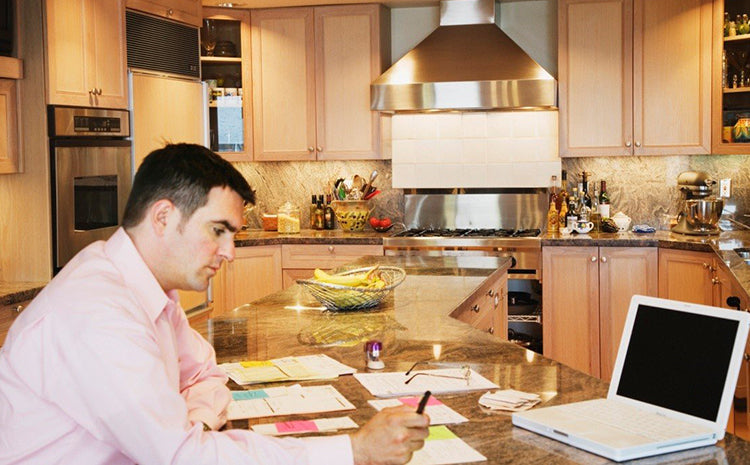 an employee working form home by video conference