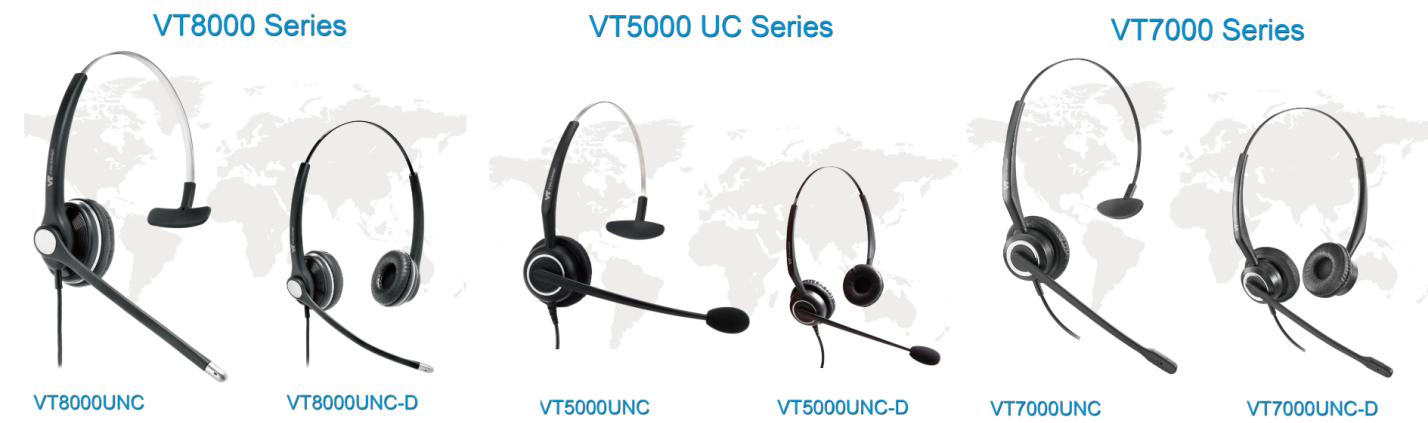 VT Wired Headsets Collection