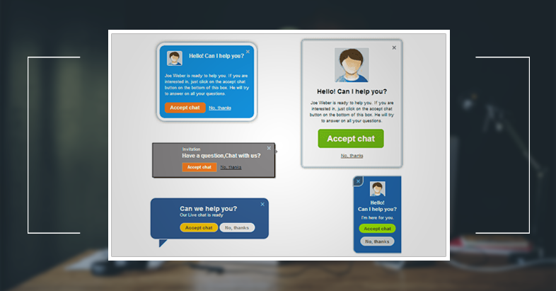 Ask before sending invitations In live chat