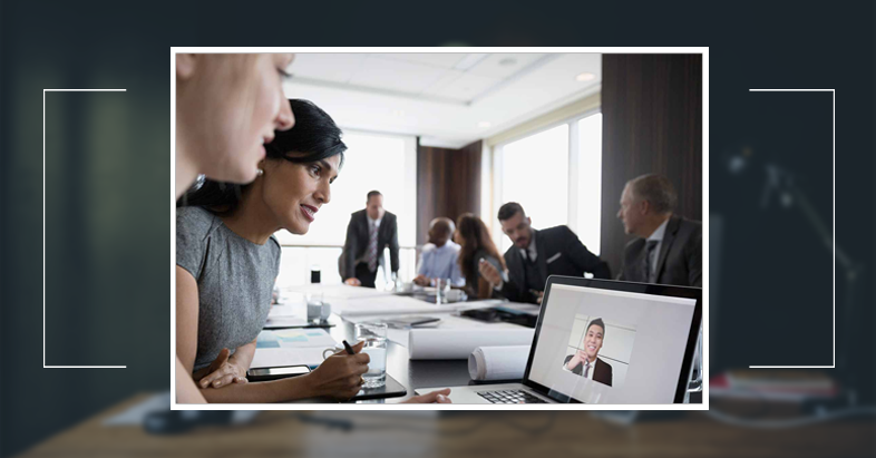 remote employees in video conference meeting