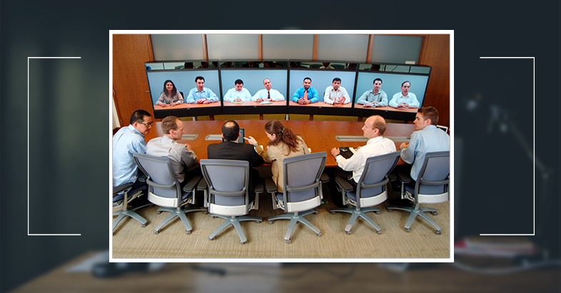 video conference meeting with foreigners