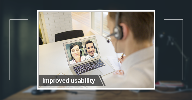 video conference system improve usability