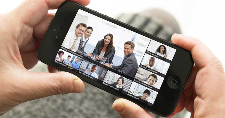 using mobile phone in video call