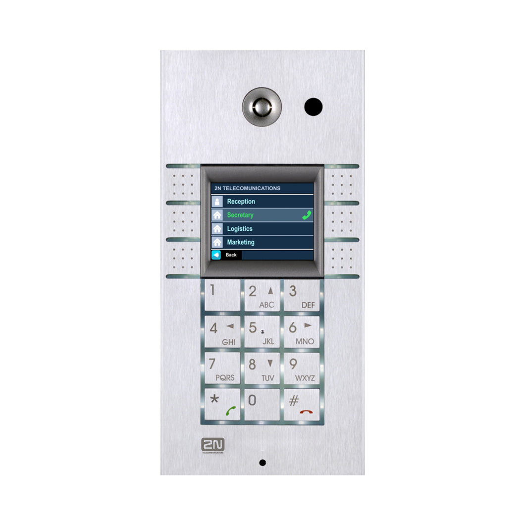 2N Basic Intercom 6 Button + Keypad + Display Helios Ip Vario * Helios Ip Vario - Intercom & Paging Systems