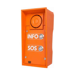 2N Intercom 2 buttons & 10W speaker, INFO/SOS labels HELIOS IP SAFETY * نظام انتركم مزود ب 2 زر تحكم و مخرج صوت 10 وات تو ان HELIOS IP SAFETY