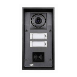 2N Intercom 2 buttons & camera (card reader ready) & 10W speaker HELIOS IP FORCE  * نظام انتركم مزود ب 2  زر تحكم وكاميرا وقارئ بصمة كروت تو ان HELIOS IP FORCE