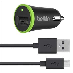 Belkin CAR CHARGER WITH MICROUSB CHARGE/SYNC CABLE (2.1A)