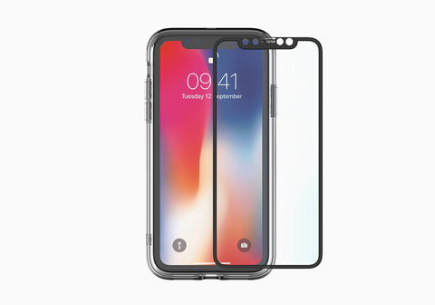 Cygnett Front/Back Glass Protection & Bumper Frame for iPhone XS & iPhone X CY2624BNSPB