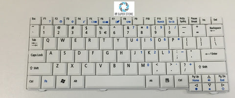 Acer Aspire One A110X ZG5 Series Laptop Keyboard White V091946BS1