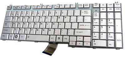 Toshiba Satellite Pro L500 P200 P205 X205 series Laptop Keyboard Silver