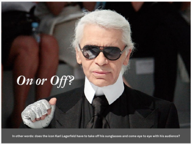 Karl Lagerfeld with Sunglasses
