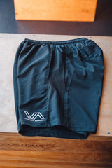 Men's Train in Godliness Training Shorts (Black)-Victory Apparel, Inc.