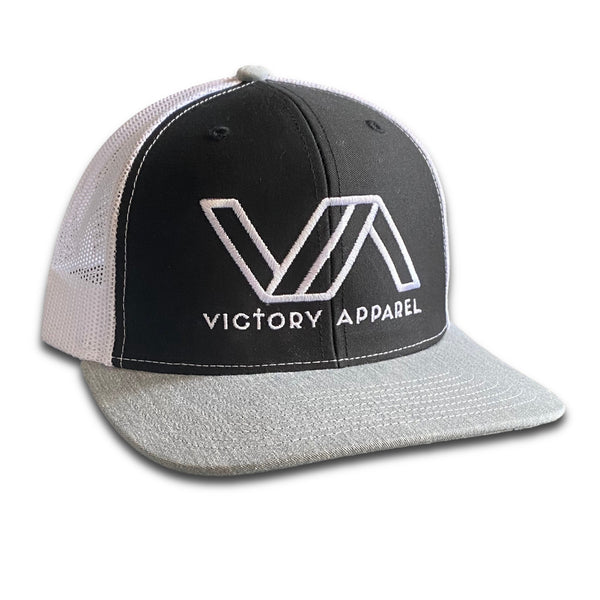 Victory Apparel Trucker Hat (Black/White/Heather Grey)-Victory Apparel, Inc.