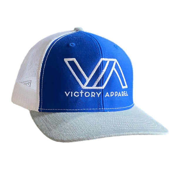 Victory Apparel Trucker Hat (Royal/White/Heather Grey)-Victory Apparel, Inc.
