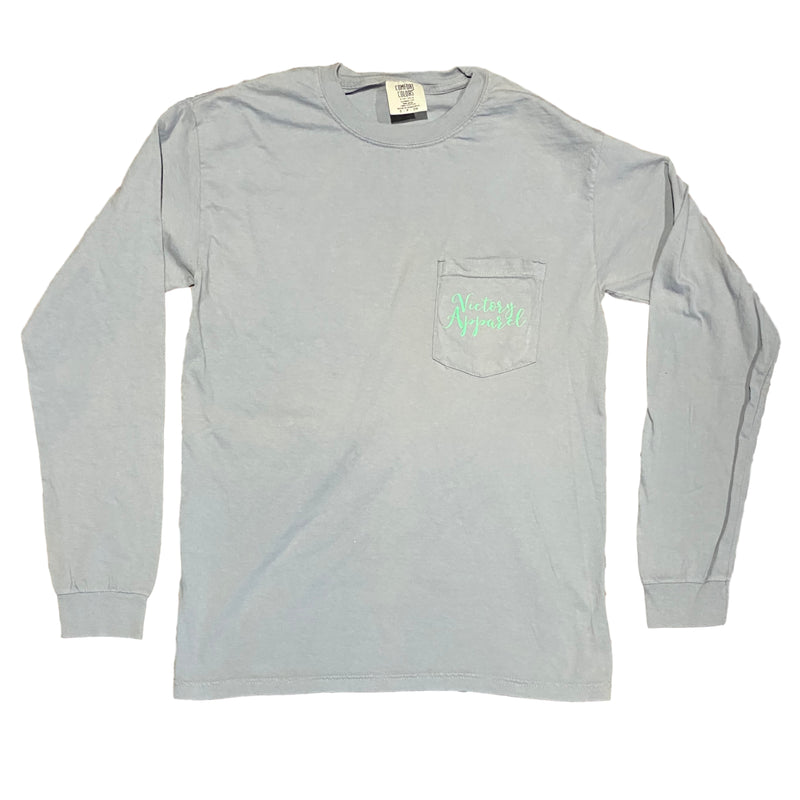 Comfort Colors Long Sleeve Tee (Grey)-Victory Apparel, Inc.