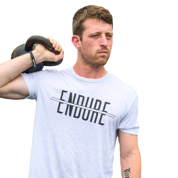 Endure Tee (Heather White)-Victory Apparel, Inc.
