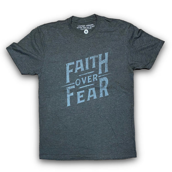 Faith over Fear Tee (Vintage Black)-Victory Apparel, Inc.