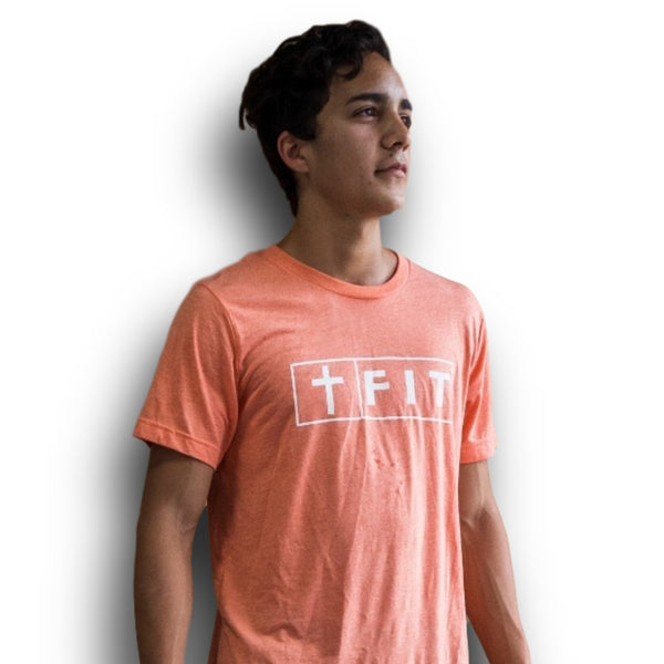 Fit for Christ Tee (Orange)-Victory Apparel, Inc.
